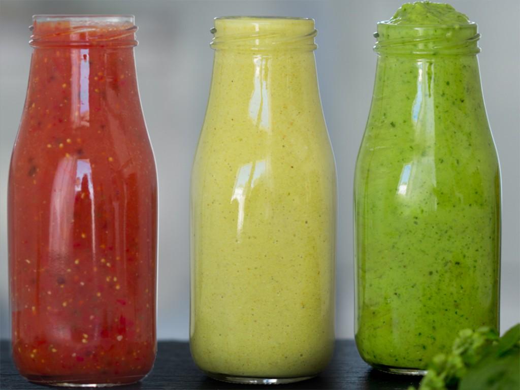 Rohkost Salatdressing vegan.