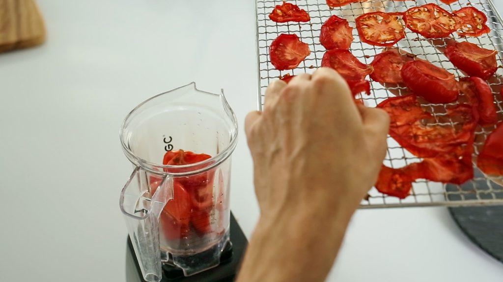 Rohkost Ketchup Tomaten pürieren