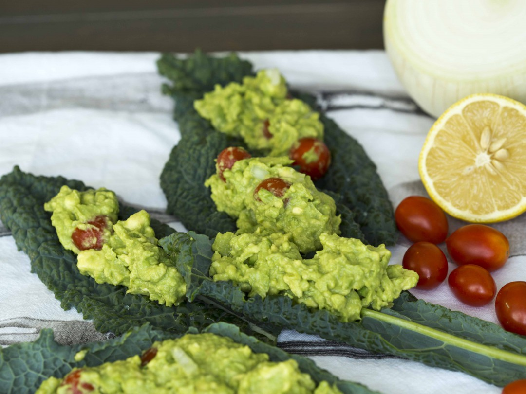 serve guacamole on kale or letuce