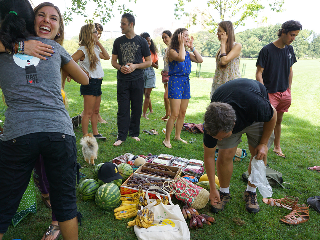 fruitluck central park nyc raw vegan wff
