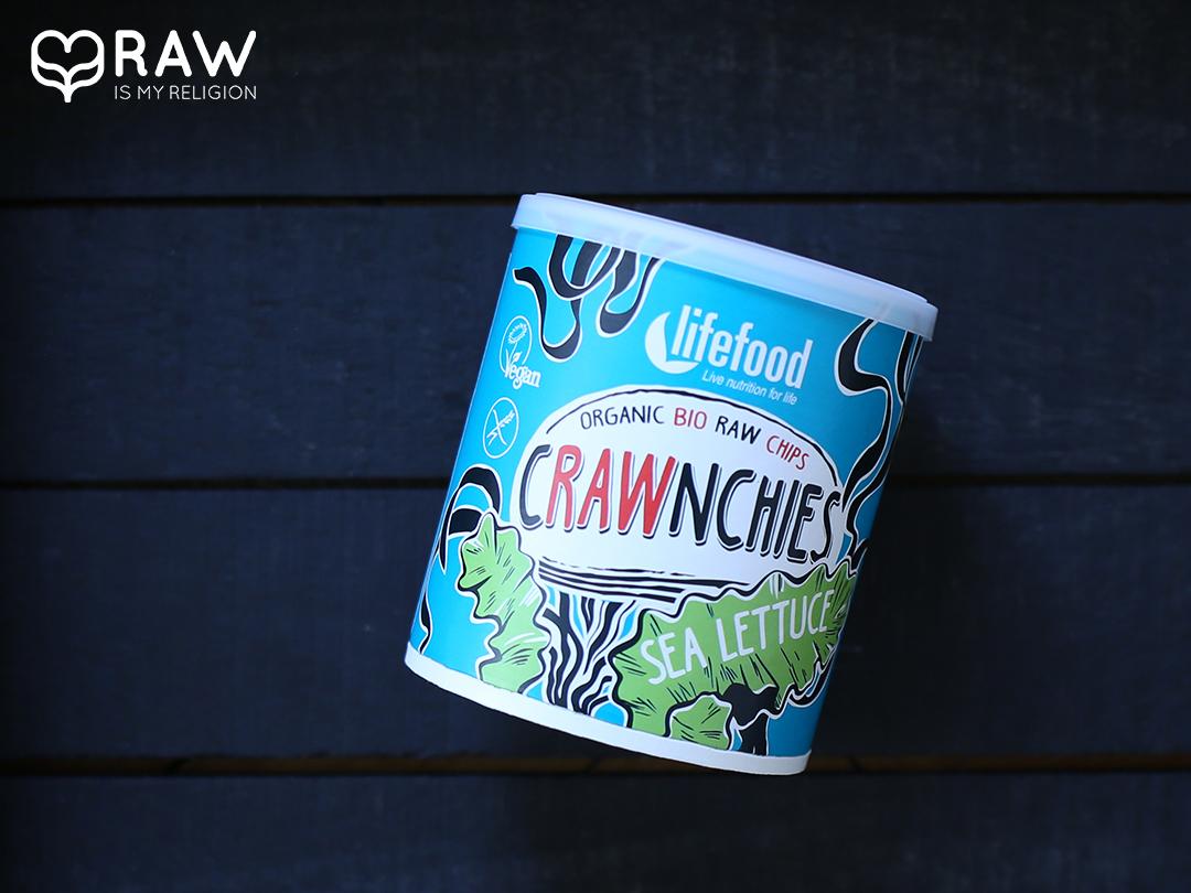 Crawnchies Sea lettuce rohkostchips lifefood