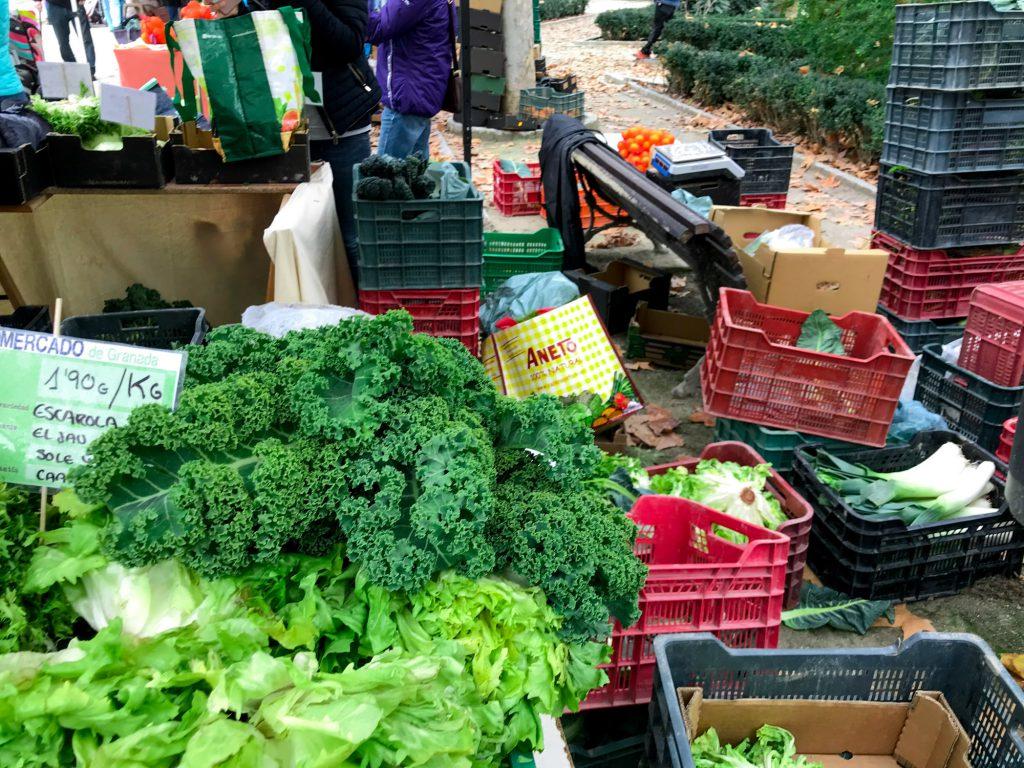 Ecomercado en Palacio de Congresos Biomarkt im Herzen von Granada.