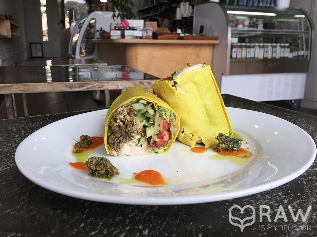 Falafel wraps Lifefood Organic Santa Monica