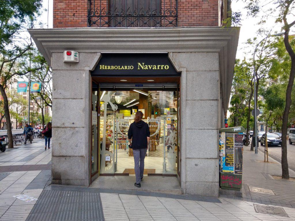 Herbolario Navarro Calle de Alcalá Madrid.