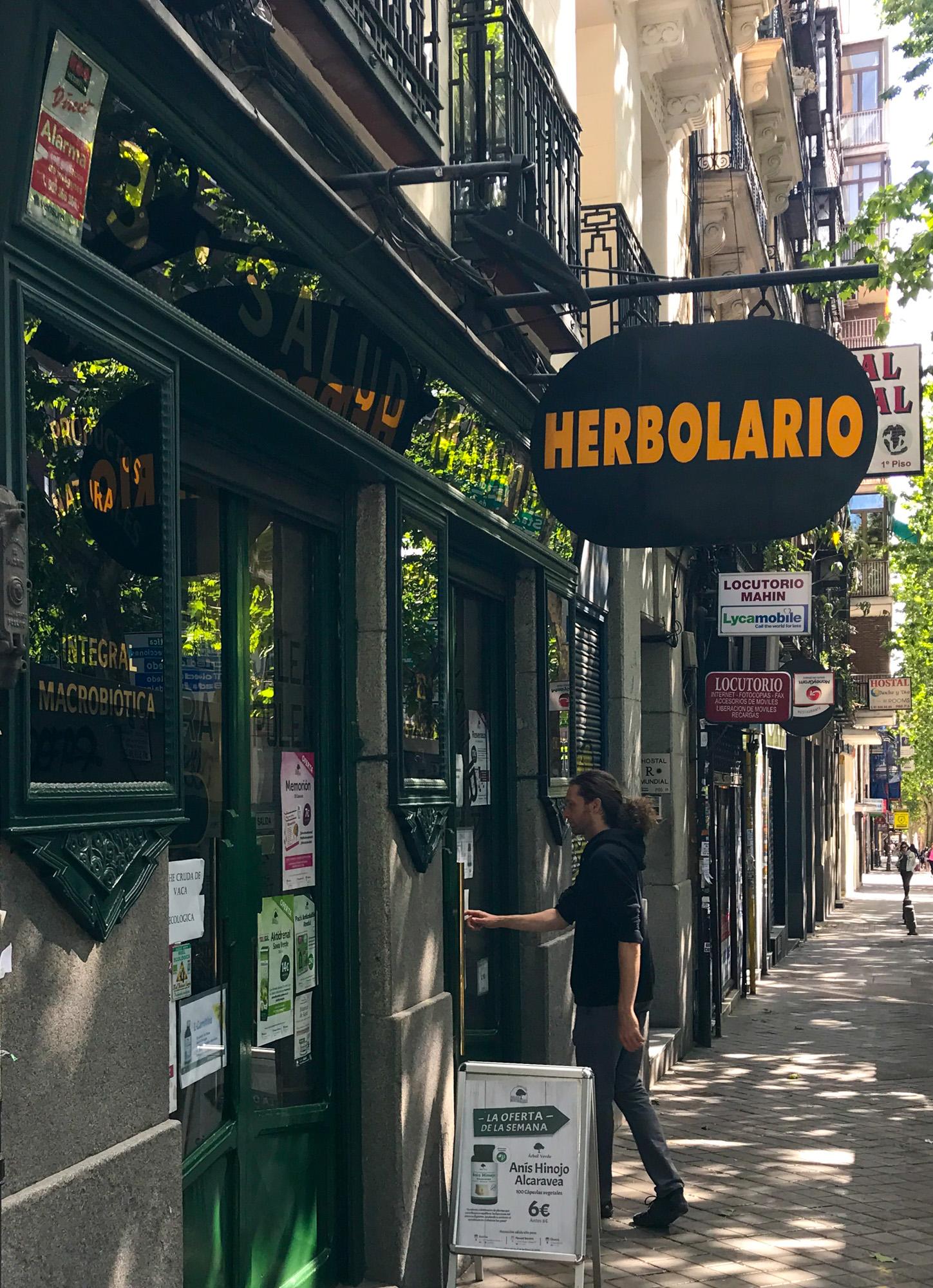 Herbolario Salud Mediterránea Madrid Paseo de Santa María de la Cabeza