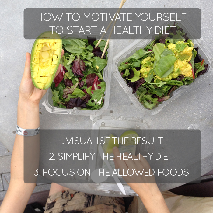 How to motivate to start healthy diet