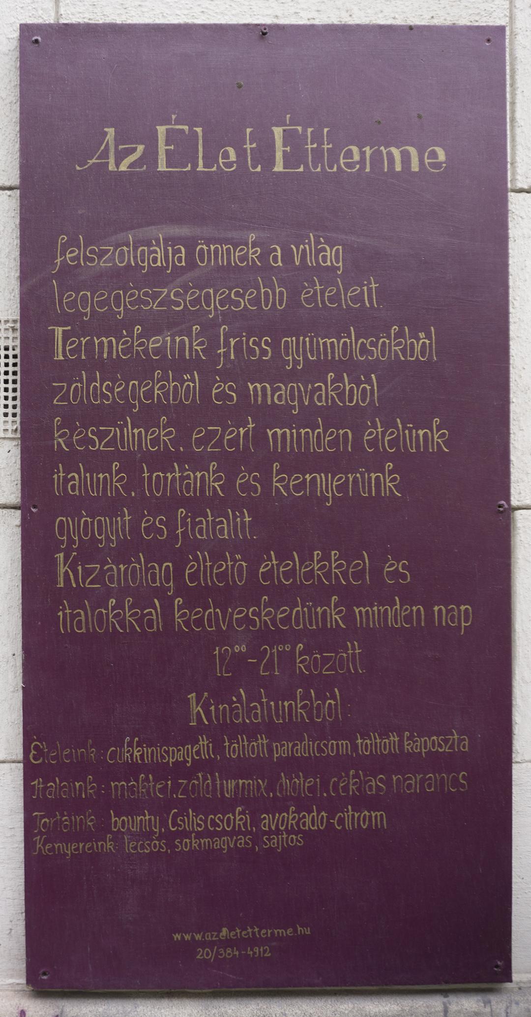 Mannatural Etelmanufaktura door Budapest, Hungary