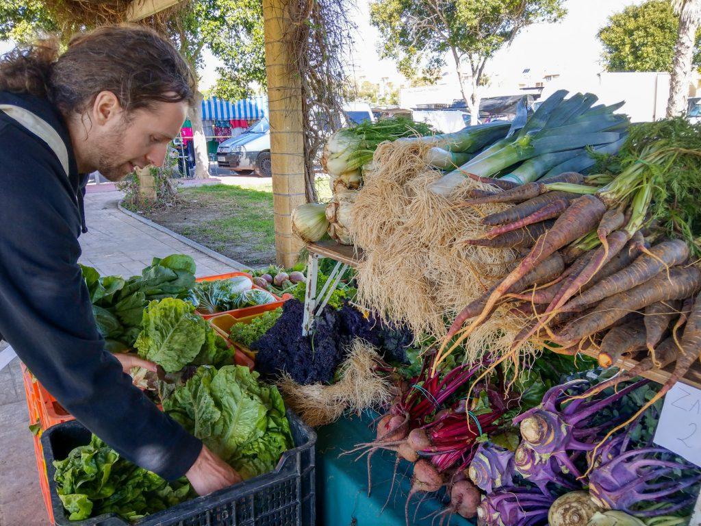 Mercado de Productos Ecológicos y Artesanos 'CártamaEco' Boimarkt Spanien in Malaga.