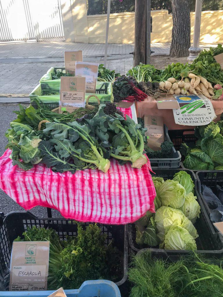 Mercat de Venda Directa Biomarkt in Valencia bio Gemüse kaufen.