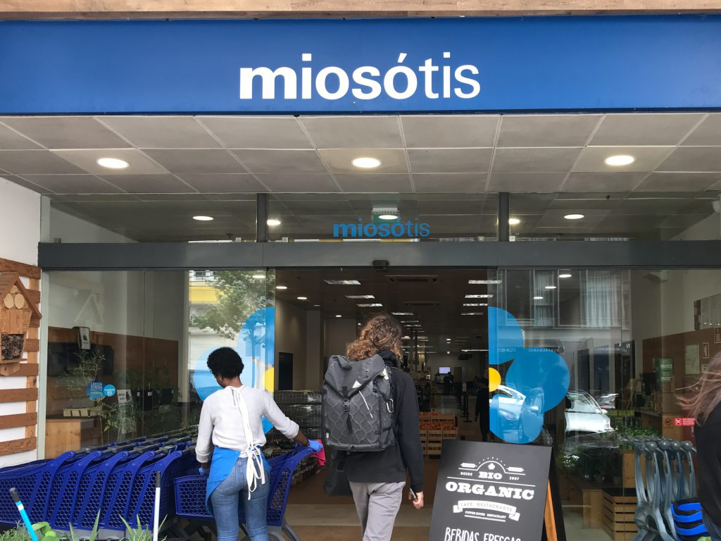 Miosótis Bioladen in Lisabon.