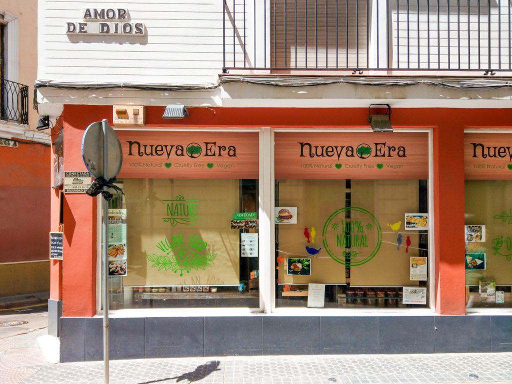 Sevilla vegan bio. Nueva Era.
