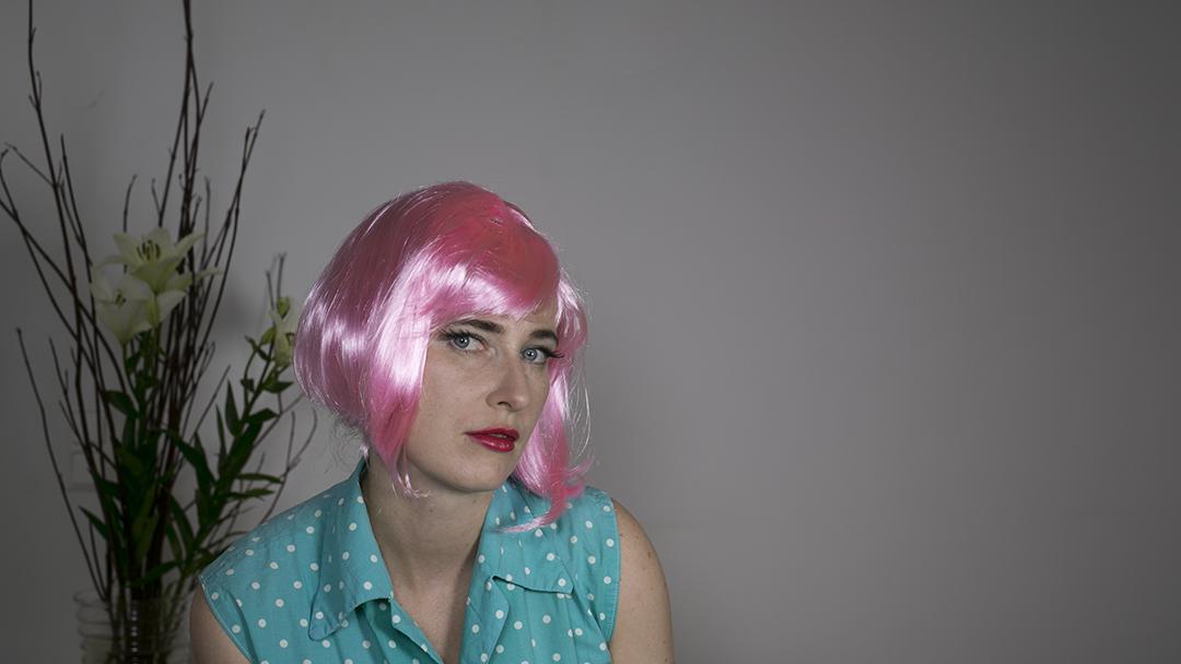 Pop art make up pink hair