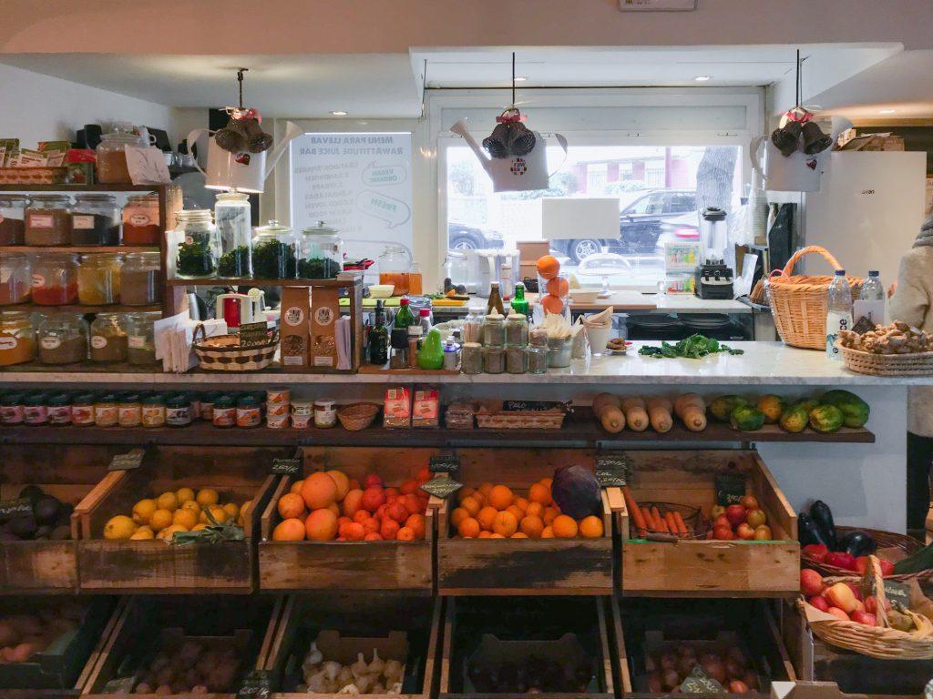 Veganer Laden in Malaga. Leider geschlossen.