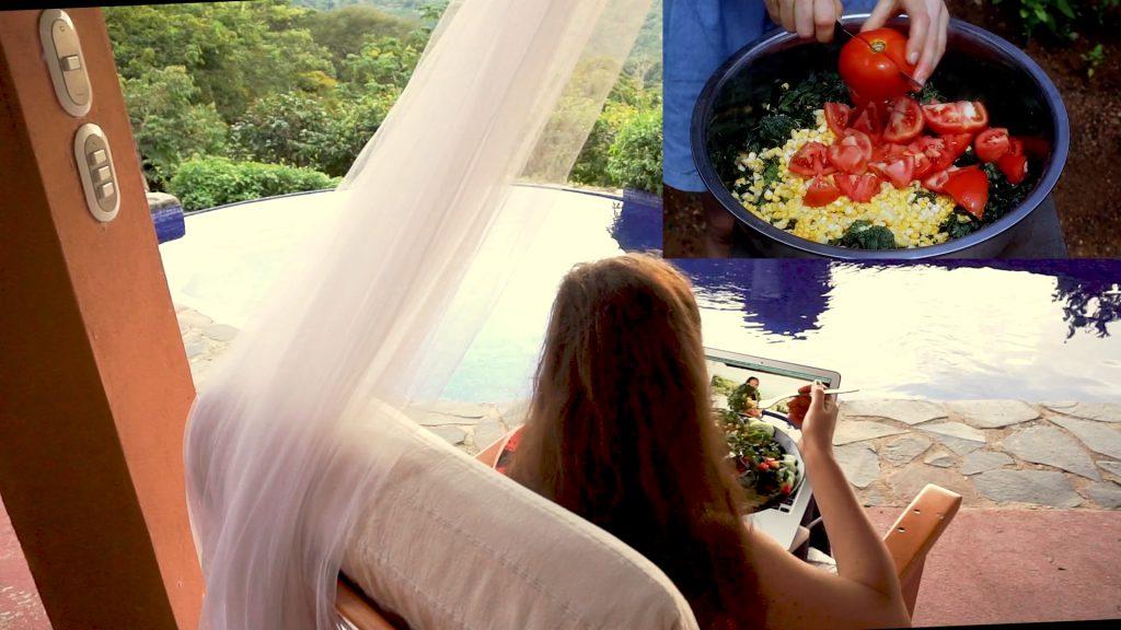 Kale Salat in Costa Rica.