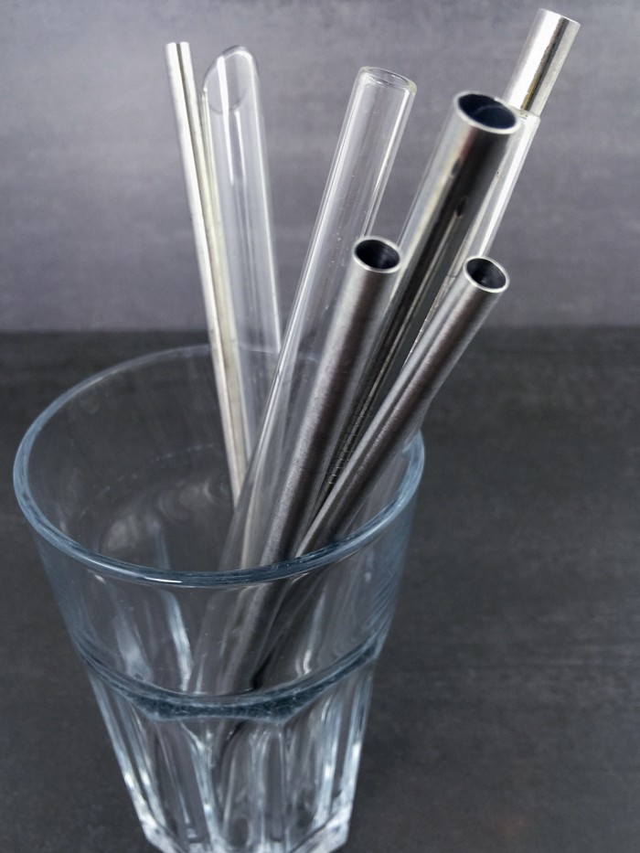 Stohhalme glas straws glass