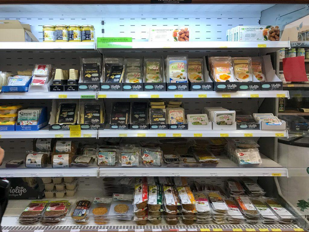 Supermercado Ecológico El Cambio Bioladen in Malaga, Spanie.