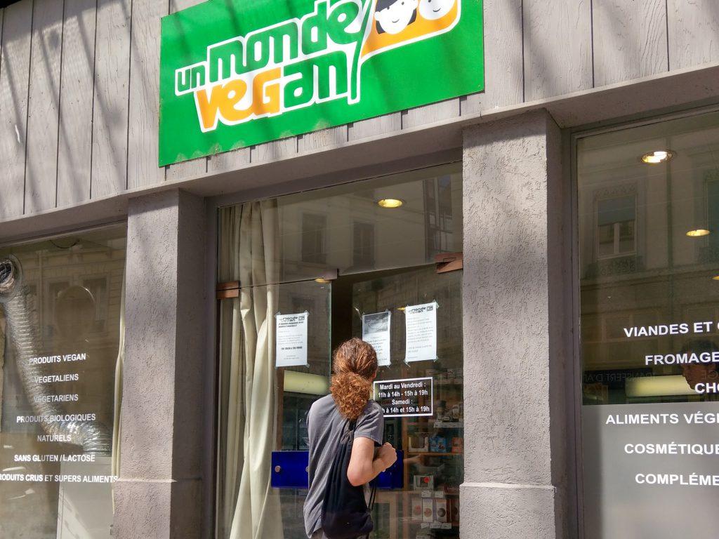 Veganer Bioladen in Paris.