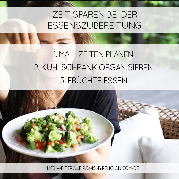 Zeit sparen bei der essenszubereitung