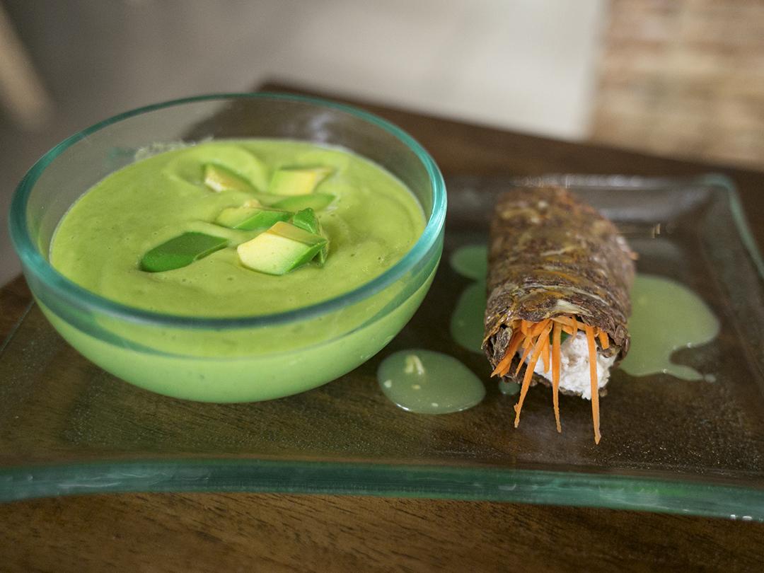 avocado soup raw vegan organic divine earth seminyak bali