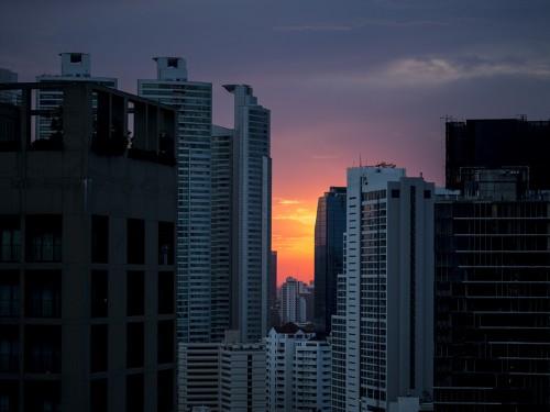 bangkok by night sunset