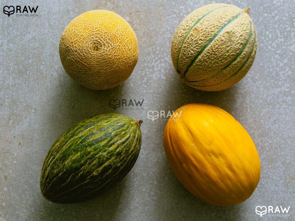 Süße Sommerfrüchte. Für vegane und Rohkost-Rezepte mit Honigmelone.