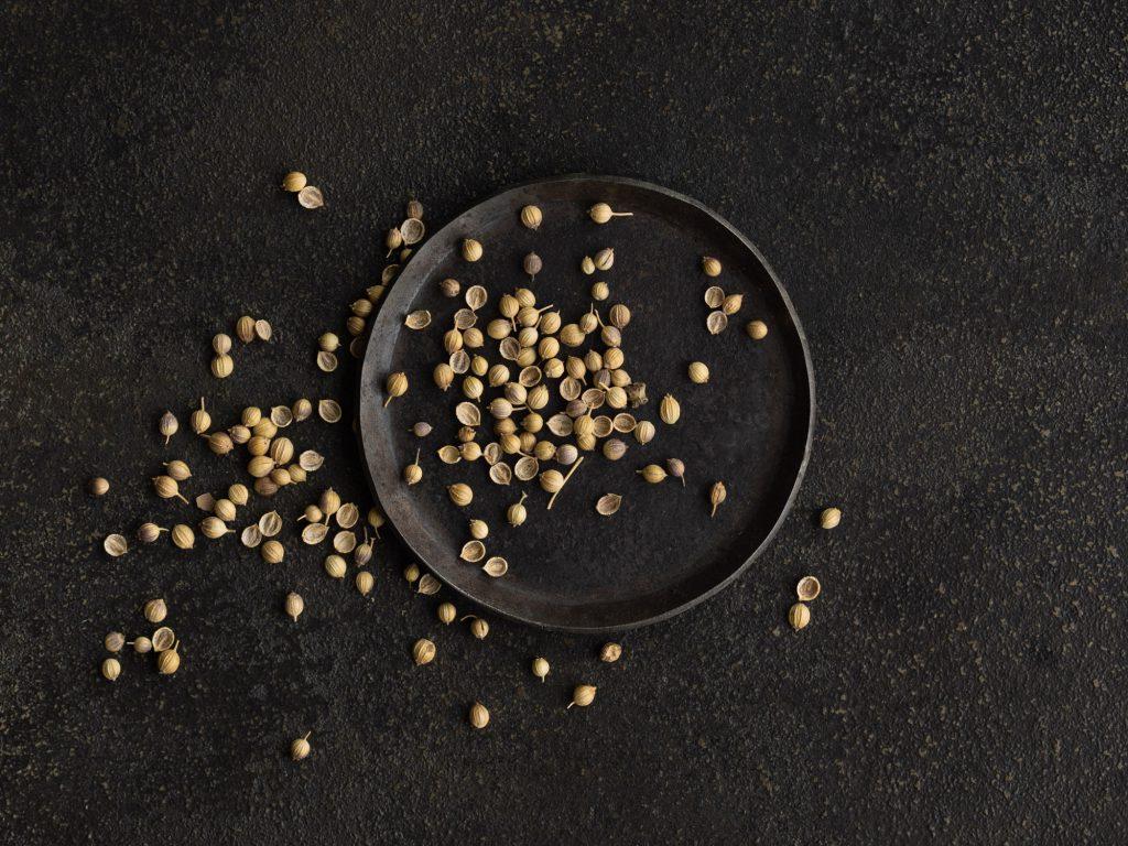 Bio Koriandersamen als Gewürz für rohkost und vegane Gerichte.