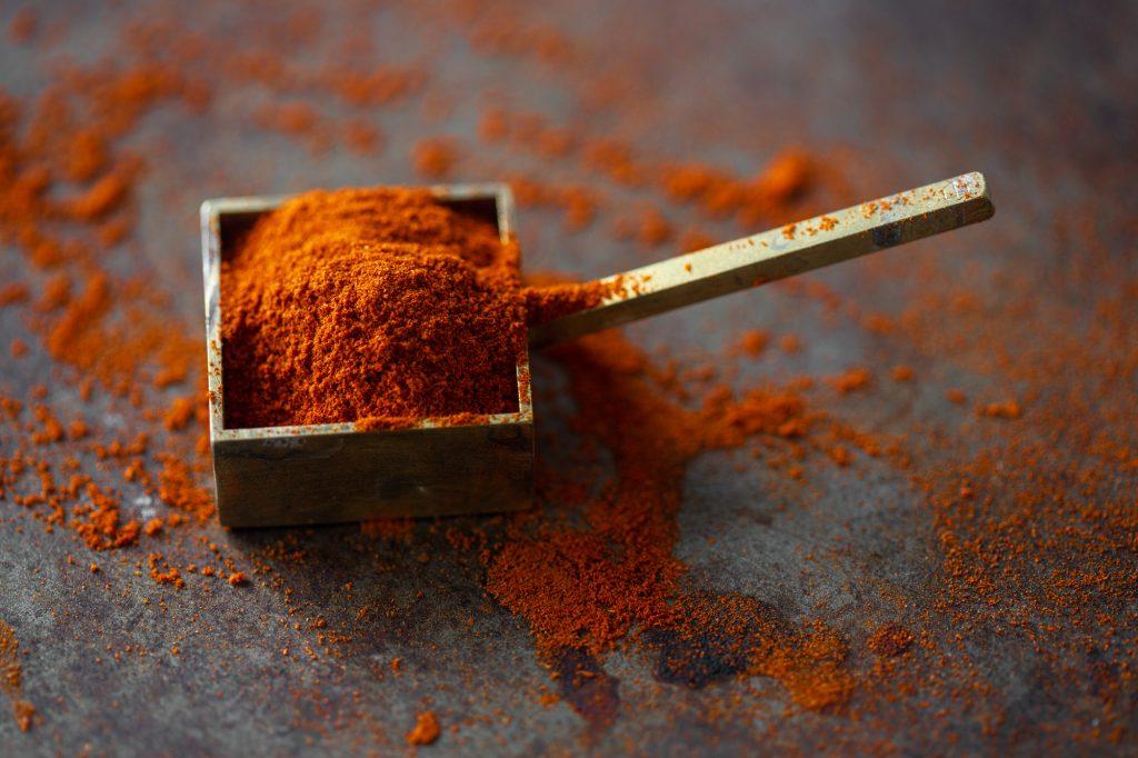 Raw vegan recipes with organic chili powder