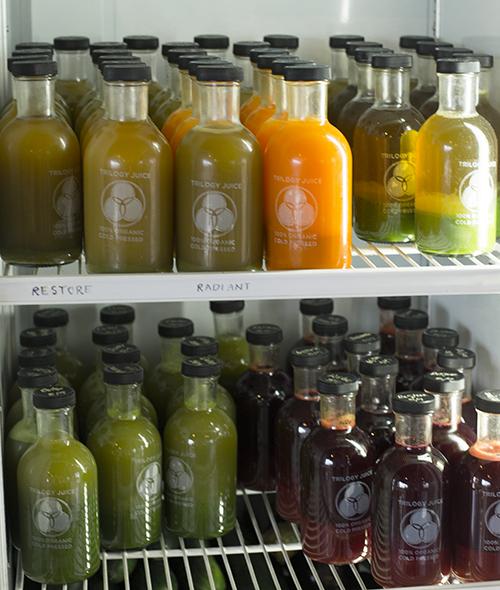 bottles raw juice trilogy