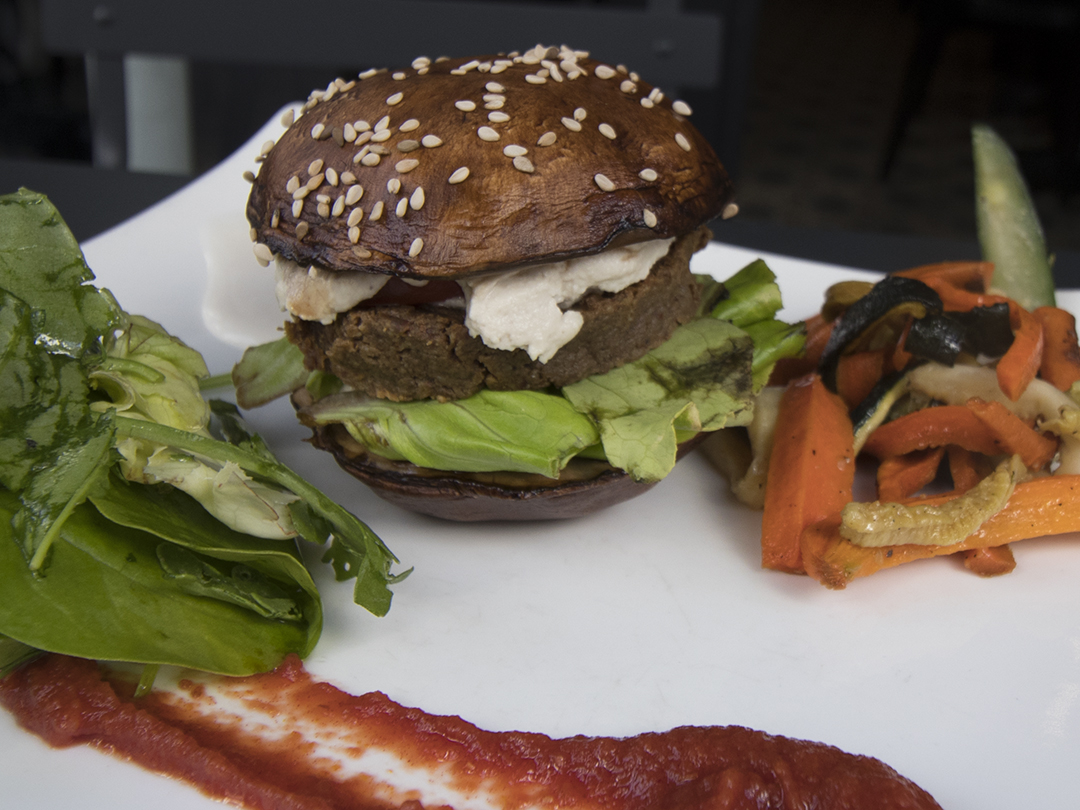 burger mushroom portobello 42 degres raw vegan paris