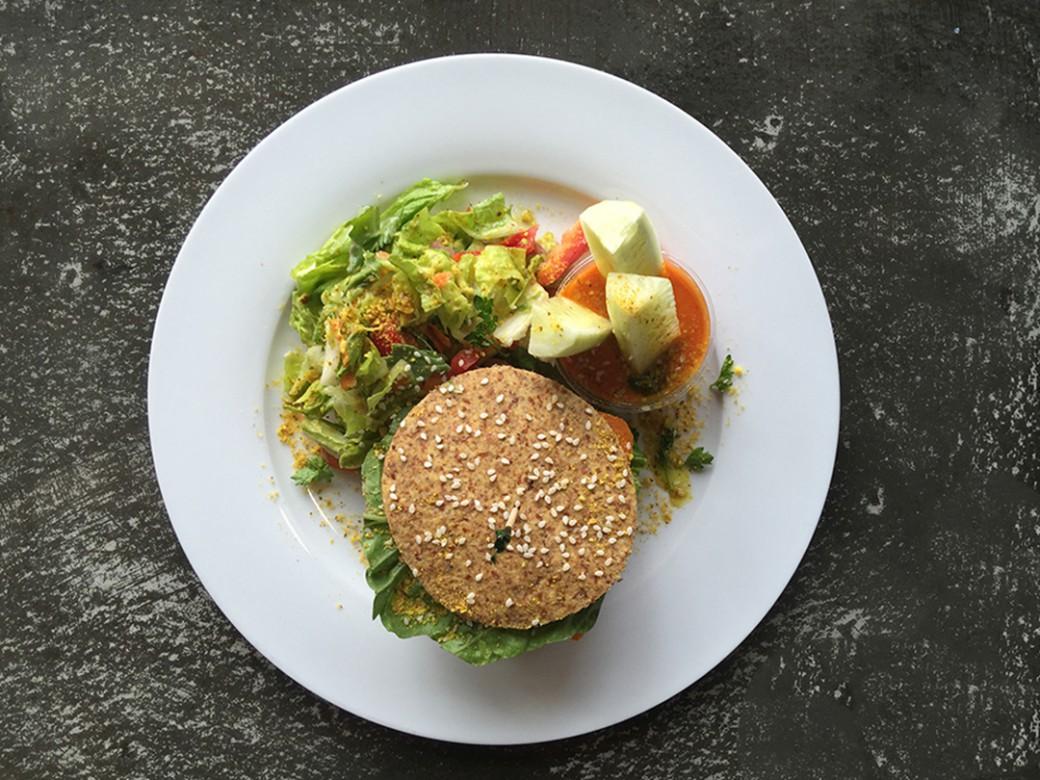 burger recipe raw food vegan organic