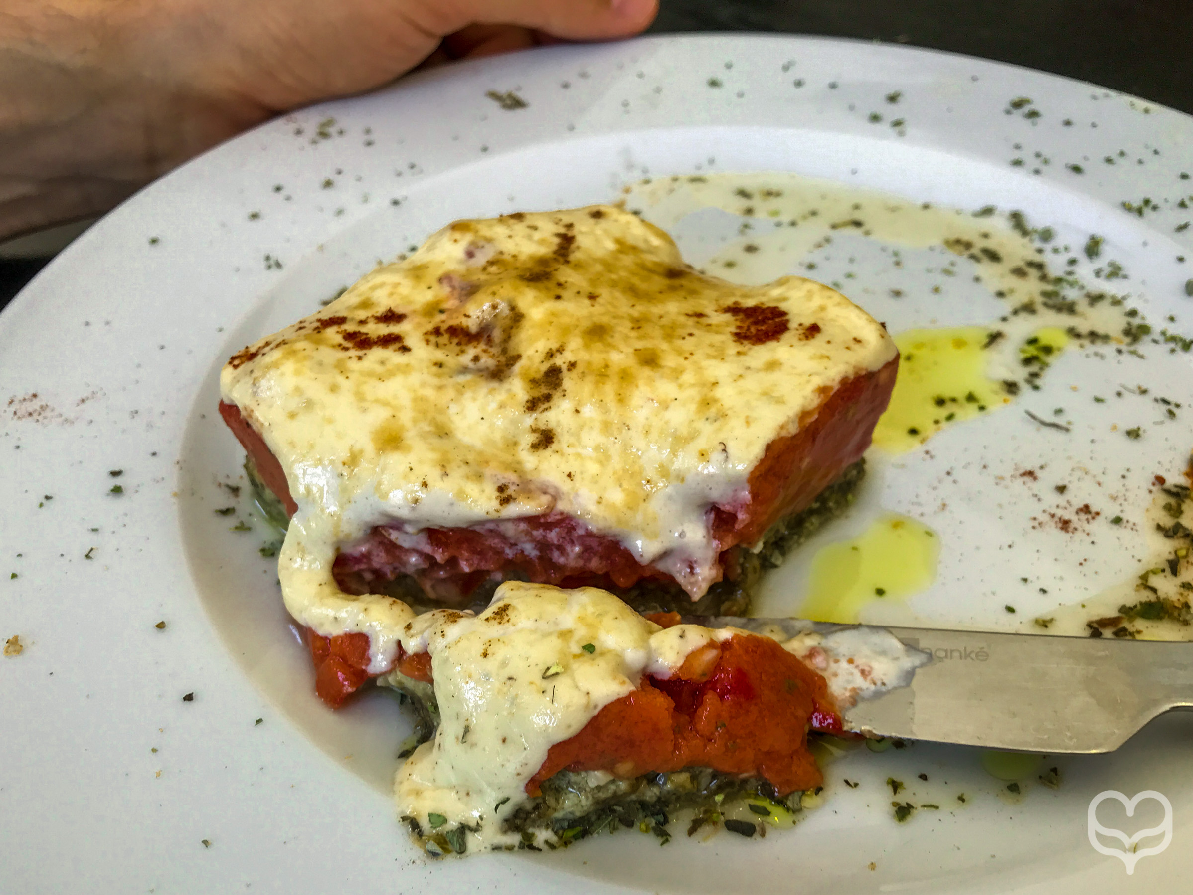 Moussaka crucina raw food restaurant madrid