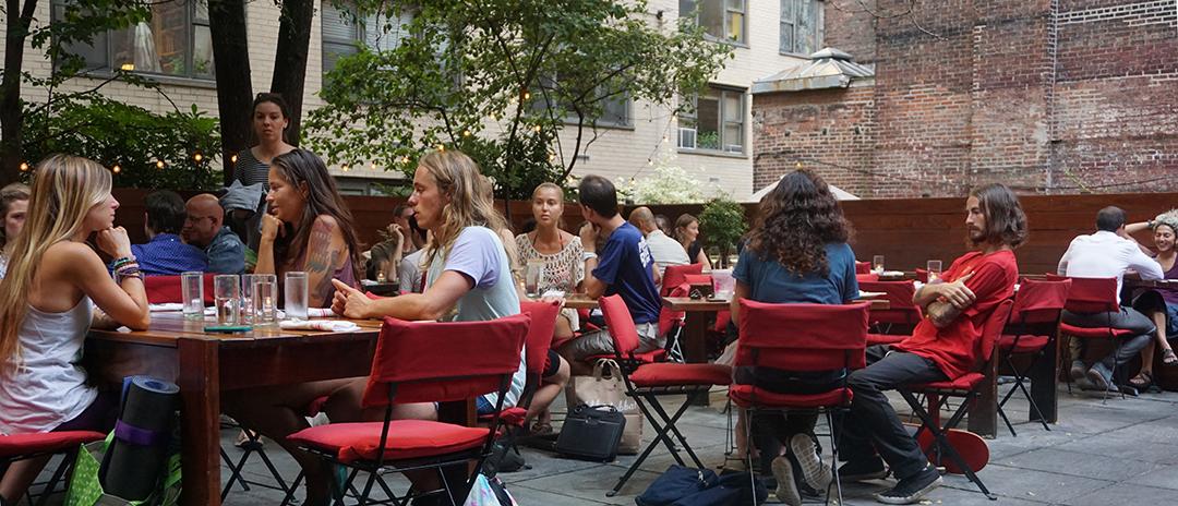 dinner friends pure food wine new york city restaurant