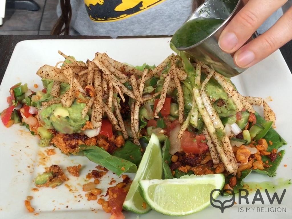 eating tacos sage vegan