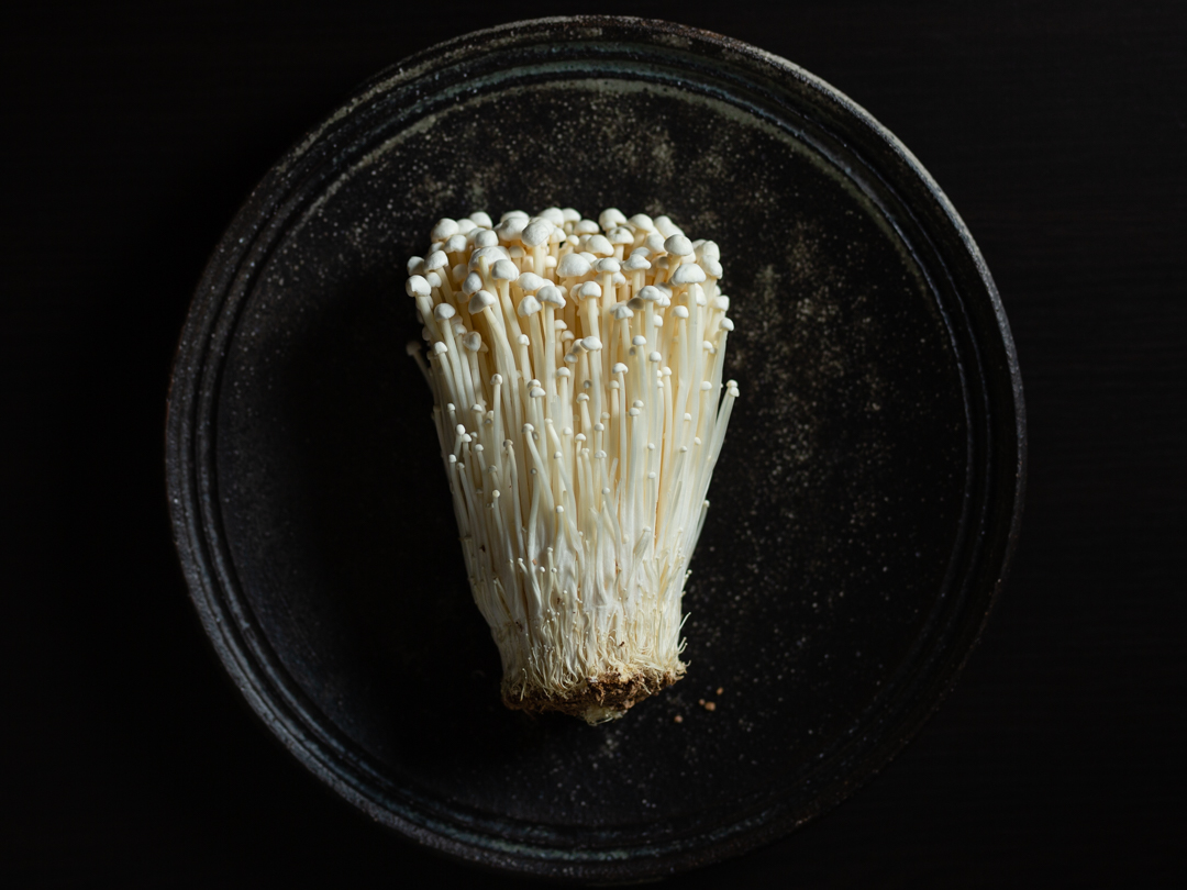 Enoki mushrooms raw