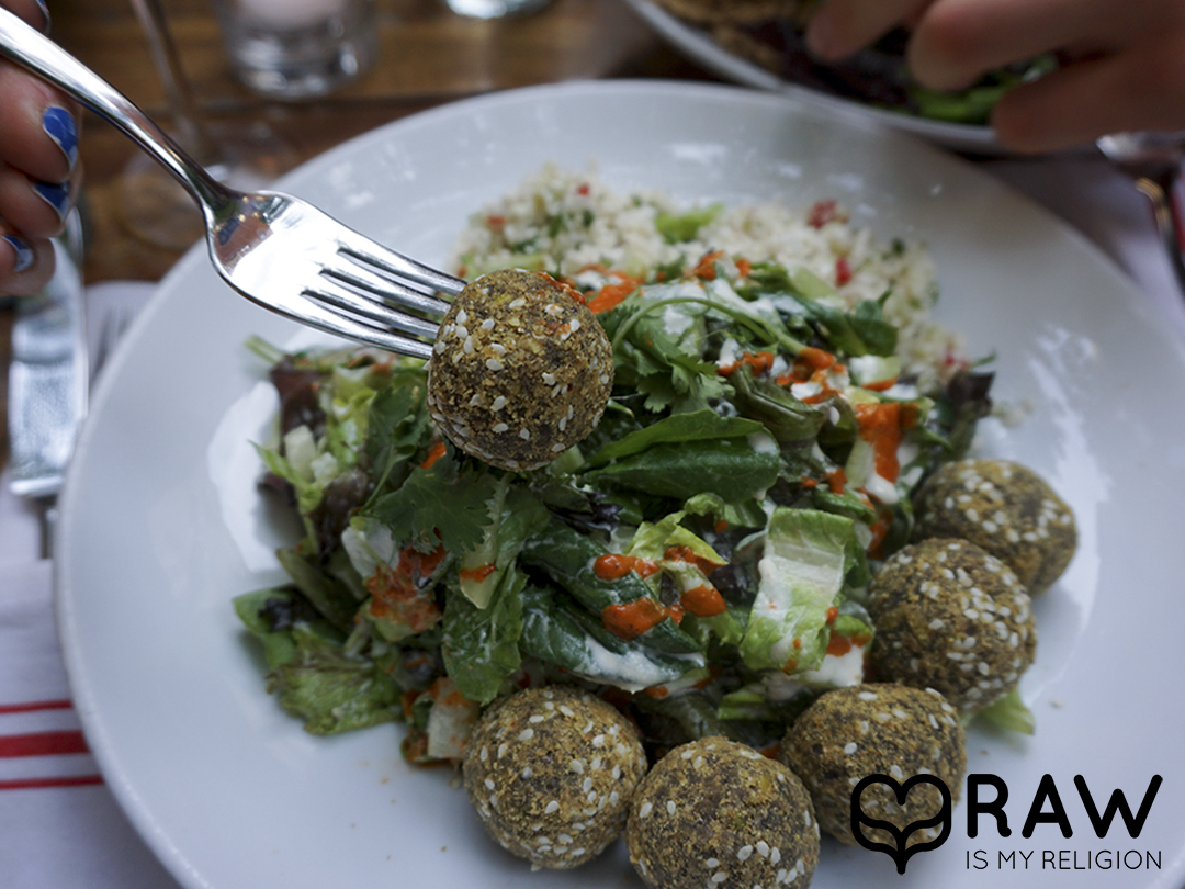 falafel salad pure food and wine nyc raw vegan
