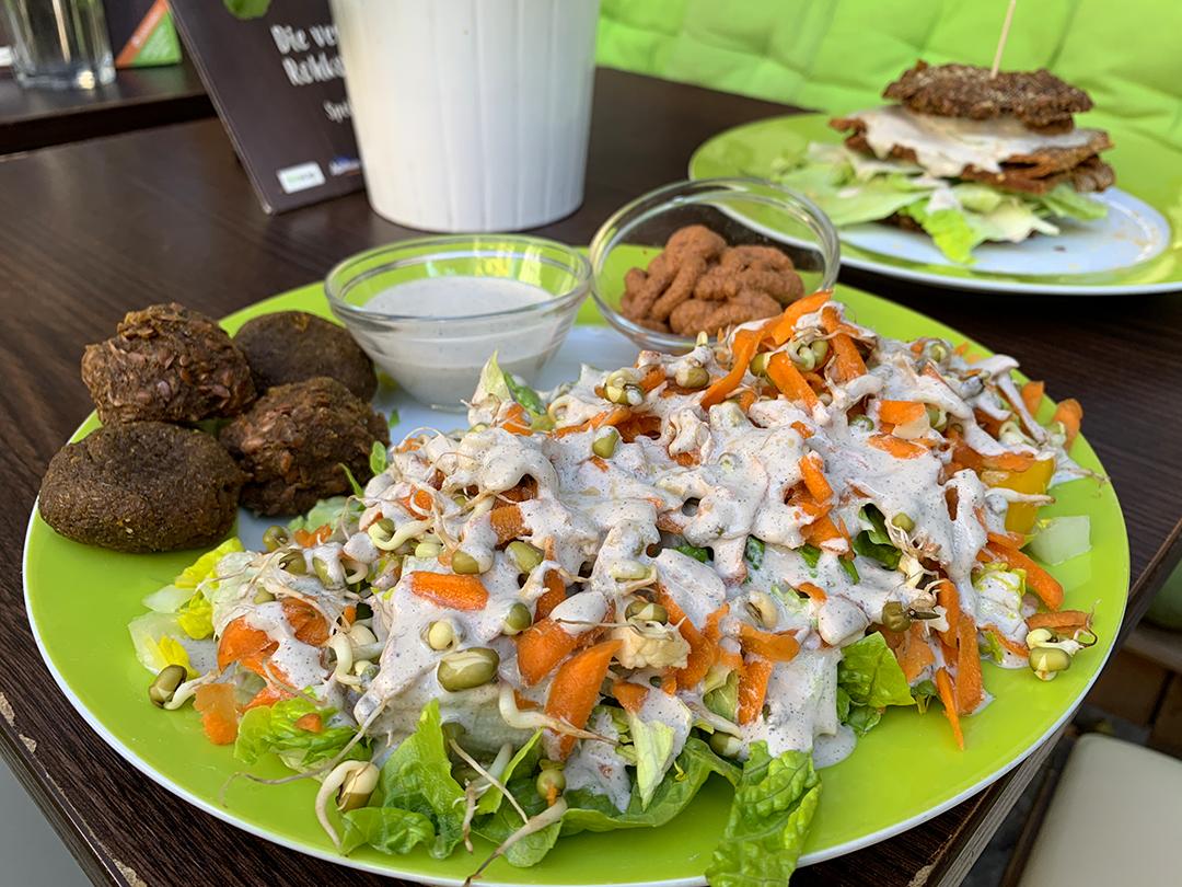 Falafel-Hummus Teller rohkosteria