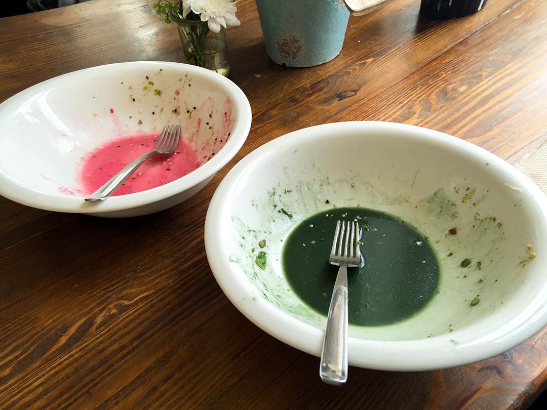 finished garden salad the bowl restaurant raw vegan berlin veganz