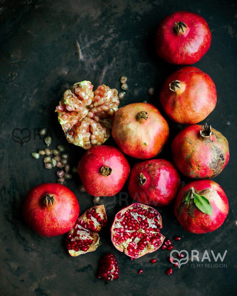 Granatapfel bio rohkost vegane Rezepte