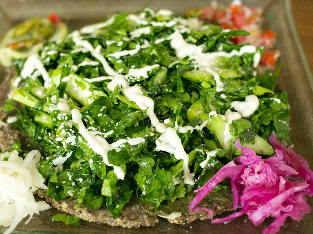 green pizza divine earth raw vegan organic seminyak bali