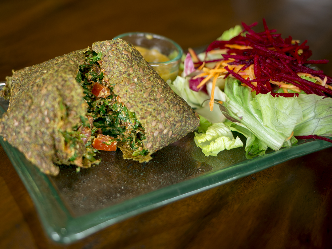 indian samosa food raw vegan bali divine earth semeniak