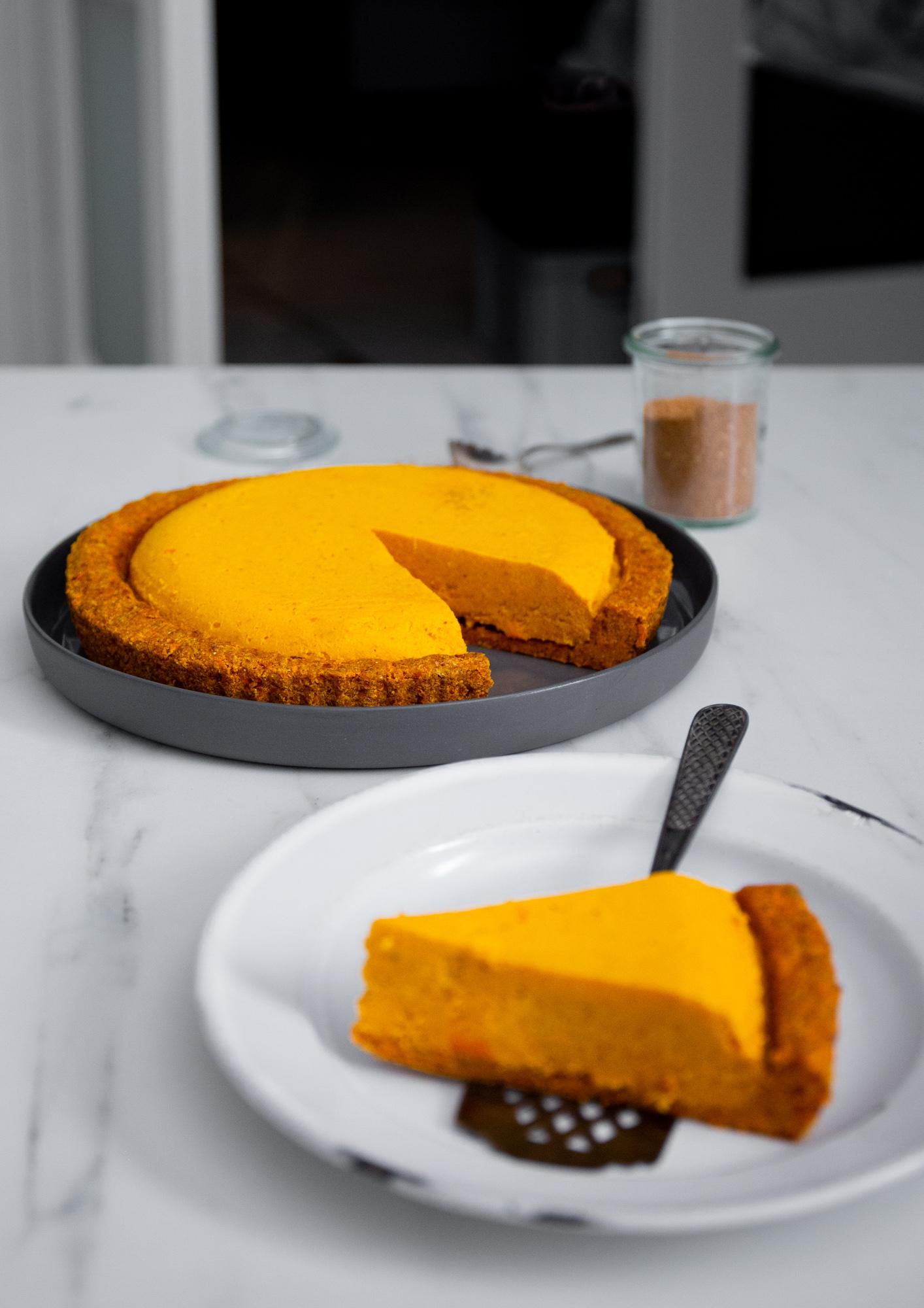 kürbis rohkost torte
