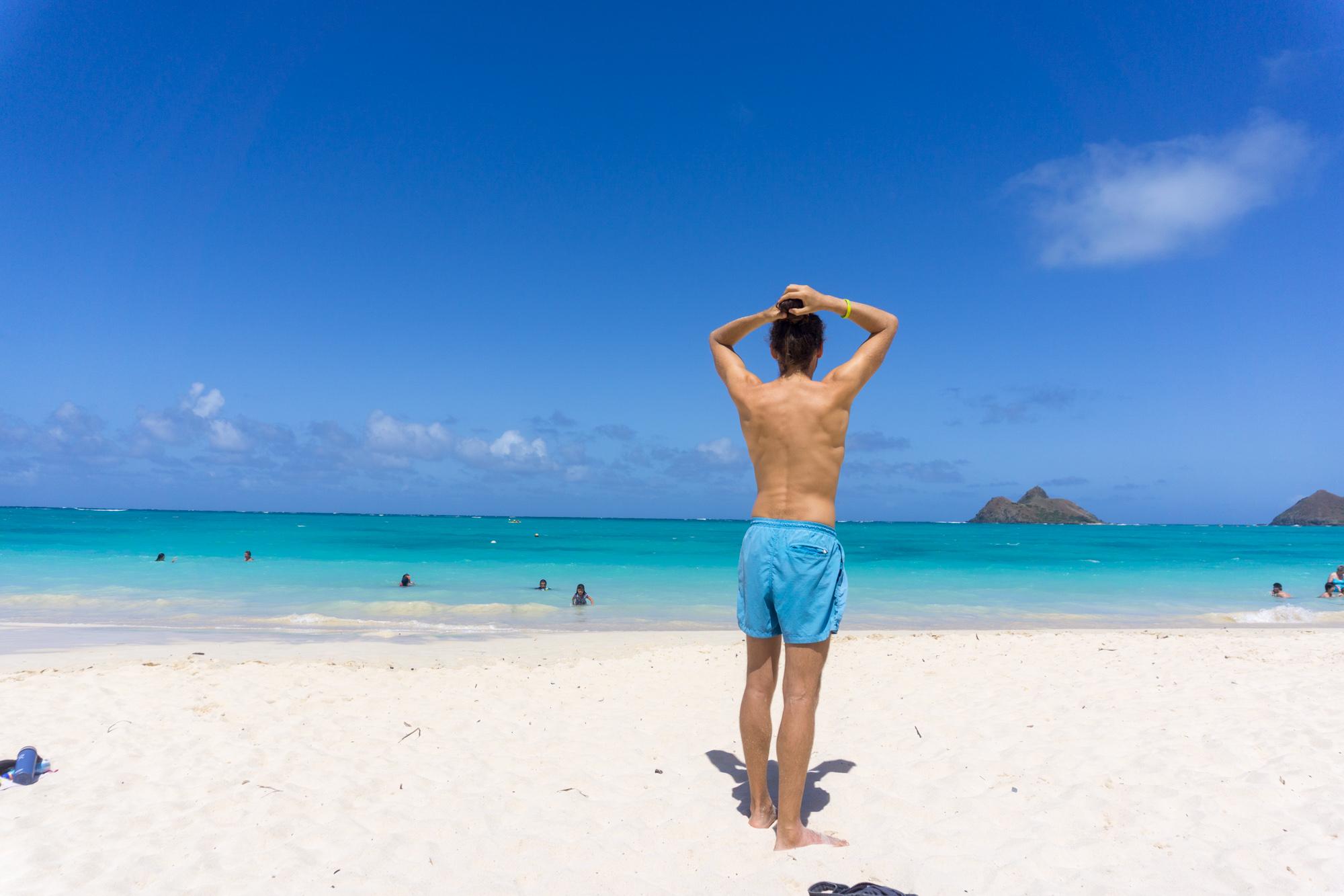 Lanikai Beach on Oahu, Hawaii
