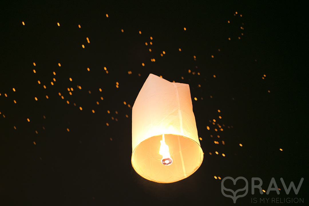 lantern flying Festival of light Loi Krathong and Yi Peng in Chiang Mai