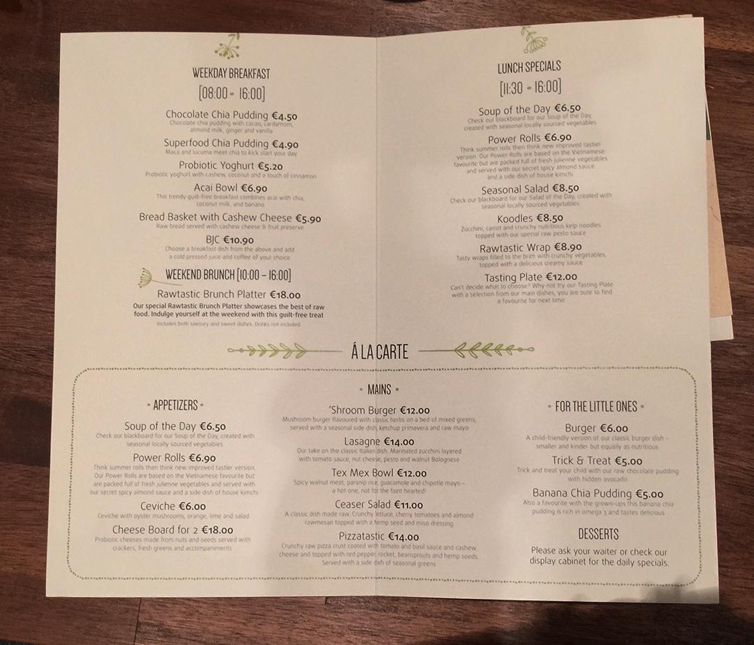 menu ratastic berlin raw food