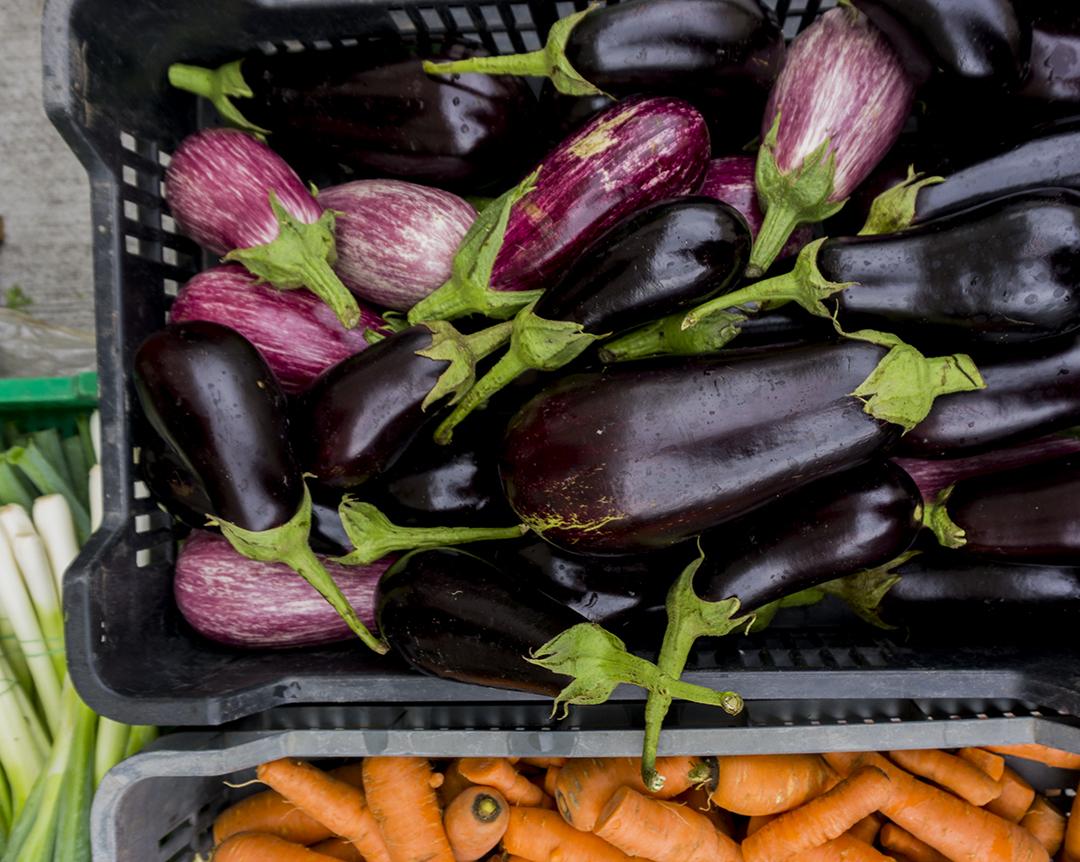 mom park organic market budapest egplants vegies organic