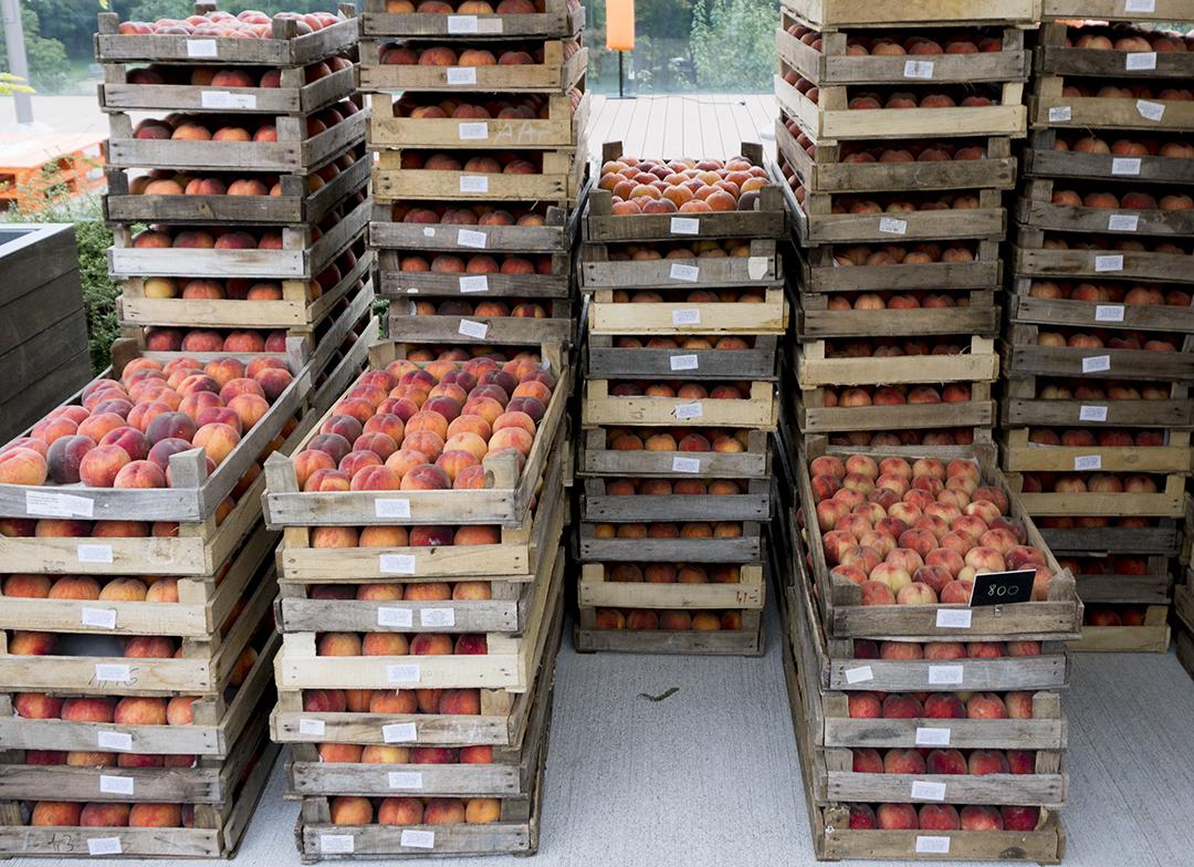 mom park organic market budapest peaches peach organic