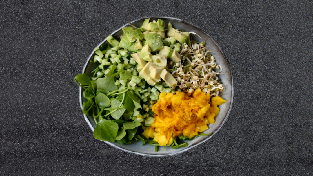 mung beans raw bowl recipe