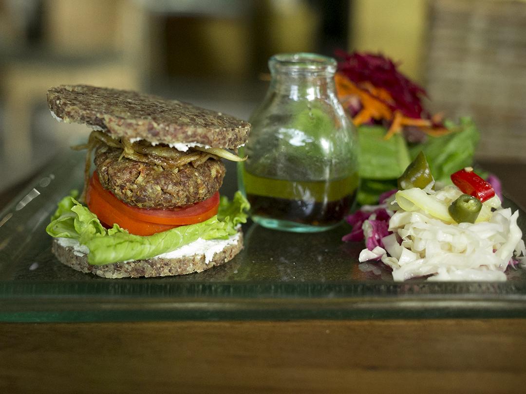 nut burger raw vegan organic divine earth seminyak bali