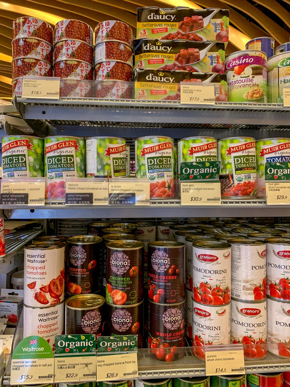 Great Food Hall organic produce in Hong Kong