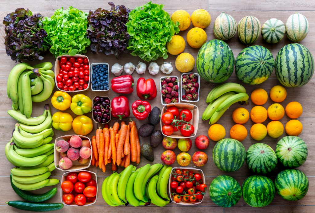 Plastic-free groceries: fruits and veggies